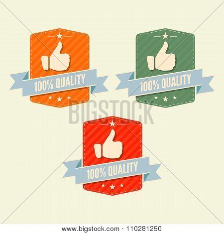 100% Quality label