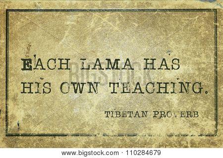Each Lama Tp