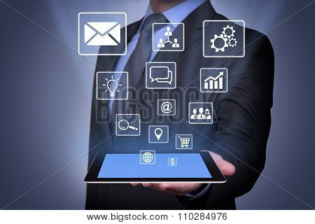 Modern Communication Concept on Tablet