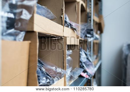 Close-up Of Cardboard Boxes