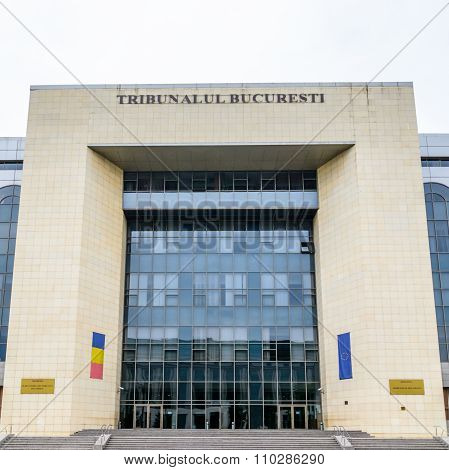 Bucharest, Romania - October 25, 2015: Bucharest's Court Of Law, Was Inaugurated In 11Th Of December