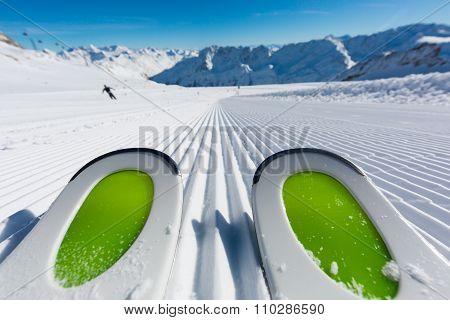 Ski Tips On Ski Piste