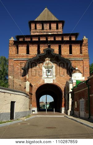 Kolomna, Russia - Jule, 2014: Pyatnitsky Gate In Kolomna
