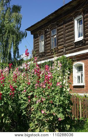 Kolomna, Russia - June, 2012: Old Wooden Houses On The Streets Of The Town