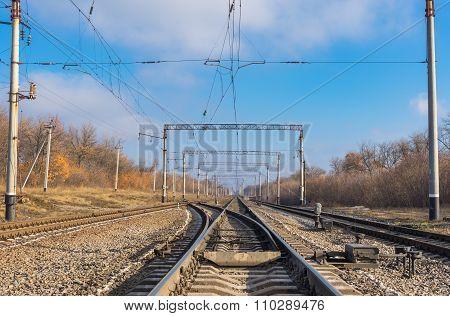Ukrainian railroad landscape
