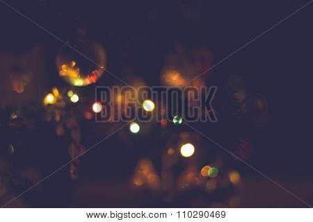 Christmas Background In Blur Matte Tone