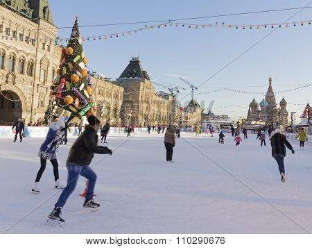Unusual Skating Rink On Red Square