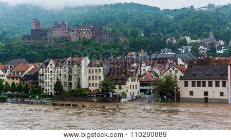 Heidelberg, Germany-Flood In Heidelberg