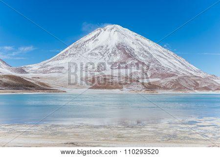 Blue Lagoon In The Altiplano Of Bolivia