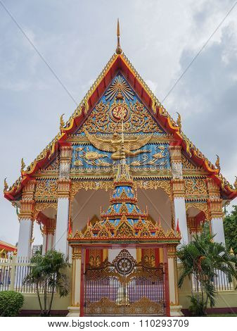 Colorful Buddist Temple In Old Phuket Thailand