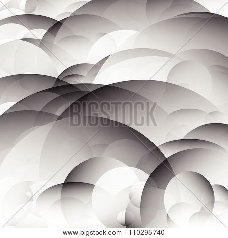 Abstract Texture / Background With Overlapping, Transparent Circles