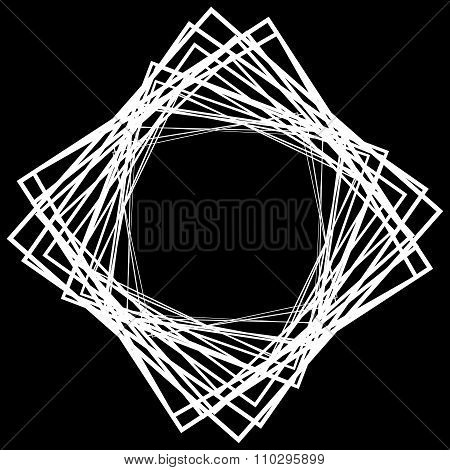 Abstract Element, Motif Made Of Grayscale Squares. Vector Art.