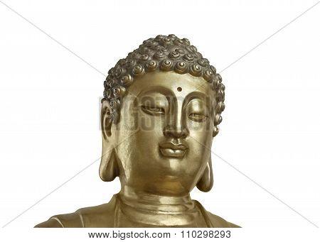 Golden Buddha On White Background