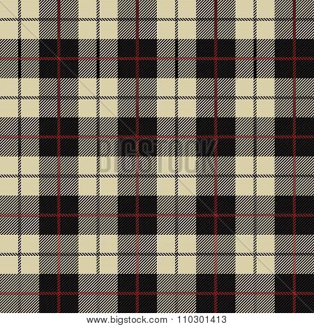 Seamless Illustration - Black, Beige Tartan