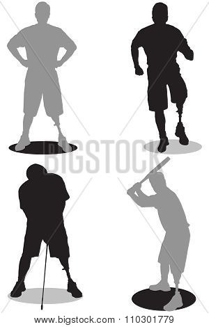 Amputee Silhouettes