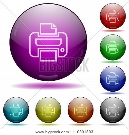 Print Glass Sphere Buttons