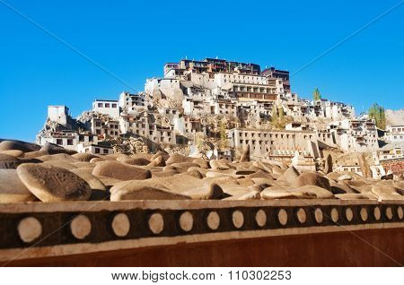 Thiksey Gompa or Thikse Monastery, the Tibetan Buddhist monastery of the Yellow Hat Gelugpa. Ladakh, India