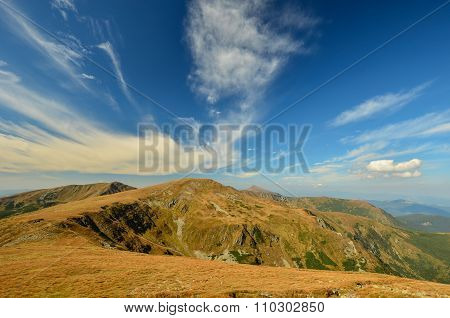 Landscape of mountains of Carpathians