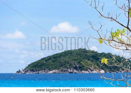 Blue Sea At Similan In Thailand