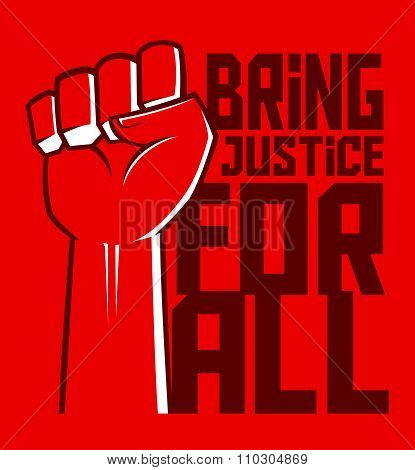 Justice For All Hand Poster