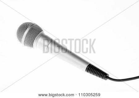 Concert microphone on white background