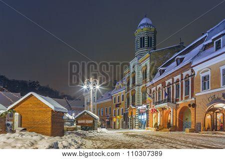 Christmas Night Cityscape