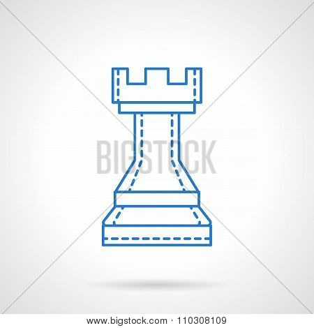 Chess blue flat line vector icon