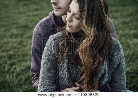 Romantic Couple Outdoors