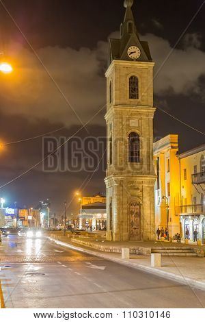 Jaffa Clock Tower by night