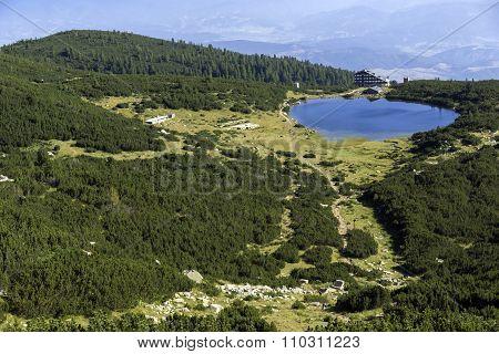 Panoramic view of Bezbog Lake, Pirin Mountain