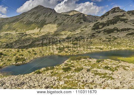 Mountain Lake and Polezhan peak, Pirin Mountain