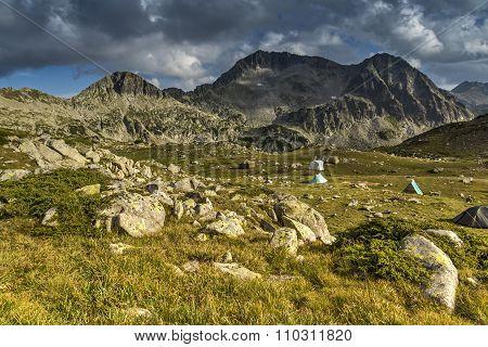 Amazing Panorama of Kamenitsa peak, Pirin Mountain