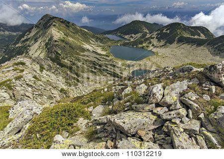 Amazing landscape of Kremenski lakes from Dzhano peak