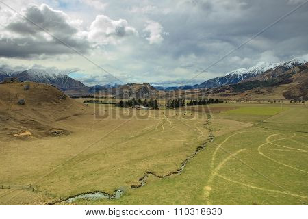 Look Out Landscape Of Castle Hill Mountain And Land Slove In Arthur Pass Route South Island New Zeal
