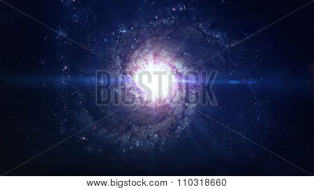 Incredibly beautiful spiral galaxy somewhere in deep space. Elements of this image furnished by NASA