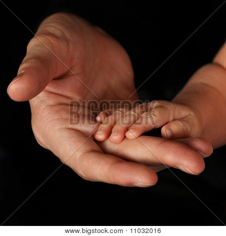 Baby Hands With Fathers