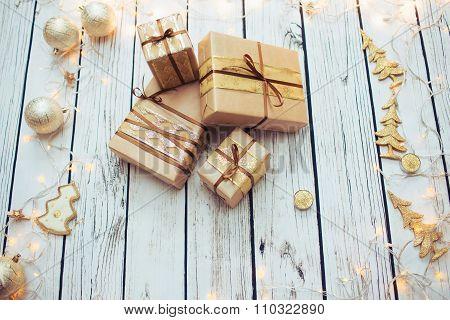 Christmas presents boxes