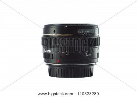 Varna, Bulgaria - December 03, 2015 - Canon  Ef 50Mm F/1.4 Usm Lens is A Standard Length Lens Featu