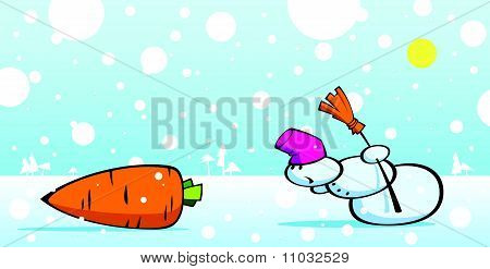 Snowman And Carrot.eps