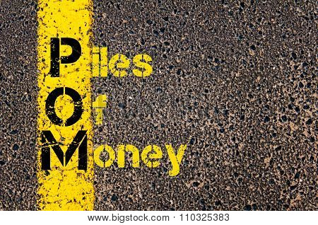 Accounting Business Acronym Pom Piles Of Money