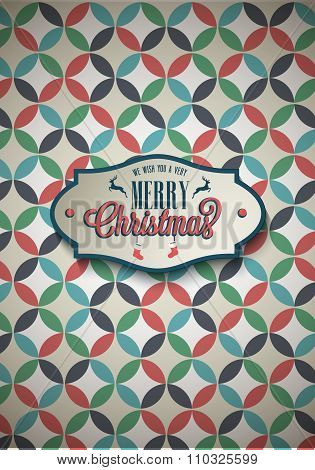 Vintage Poster Set Merry Christmas.