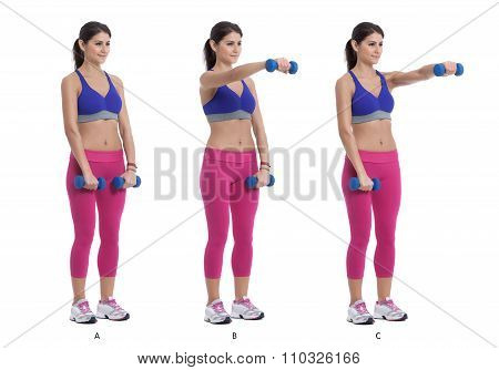 Alternating Front Dumbbell Raise