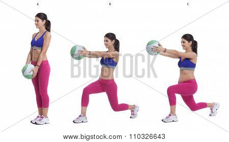 Medicine Ball Cross Behind Front Raise