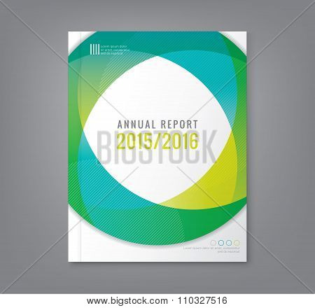 Abstract Round Circle Shapes Background For Business Annual Report Book Cover Brochure Poster