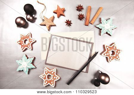 Christmas and new year holiday frame