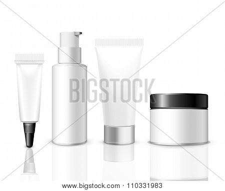 Realistic vector packaging template