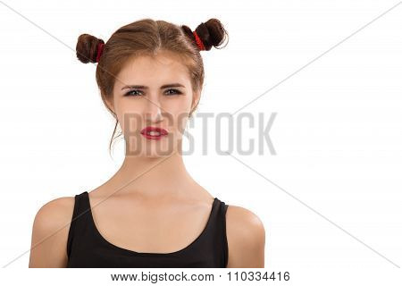 Girl Making A Grimace