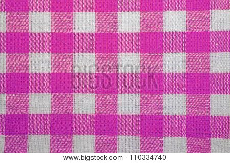 The Texture Of Checkered Fabric As A Background.