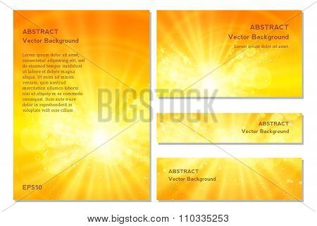 Shiny sun vector and space for your text