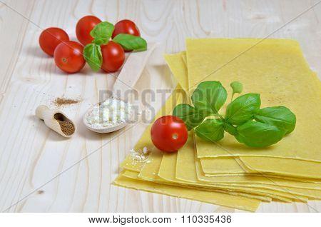 Fresh Lasagna Ingredients